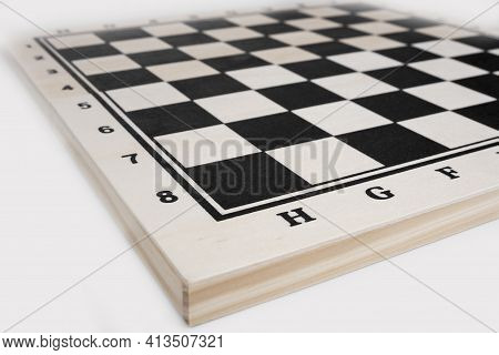 Empty Chees Game Board. New Beginning Concept