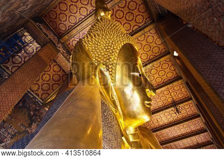 Wat-pho,bangkok Thailand :- March 12, 2021  Wat Pho As The Oldest Temple Is Home To A Pair,  Popular