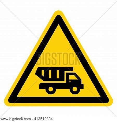 Dump Truck Symbol Sign,vector Illustration, Isolate On White Background Label. Eps10