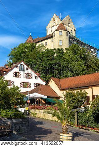 Meersburg Castle In Baden-wurttemberg, Germany, Europe. It Is Landmark Of Meersburg Town. Vertical S