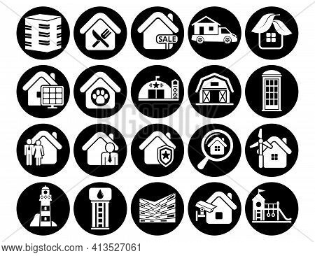 Vector Icons Pack Agriculture Farm Collection Illustration