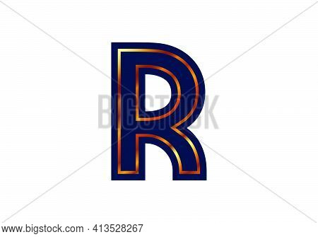 R Letter Logo Design. Creative Letter Icon Vector.