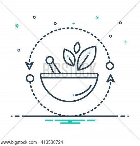 Mix Icon For Alternative-medicine Naturopathy Natural-treatment Ayurvedic-treatment Leaf Medicine