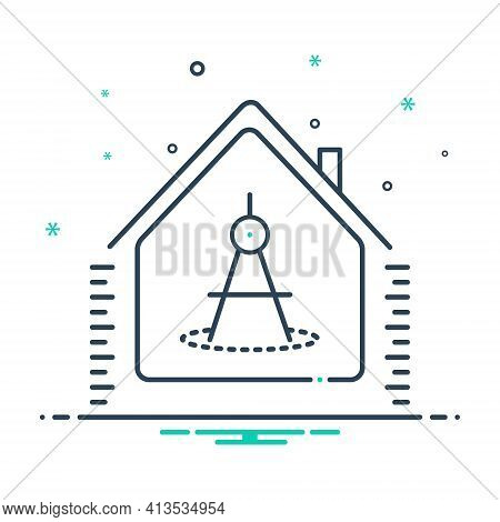 Mix Icon For House-measurement House Measurement Replacement Property Real-estate Measure