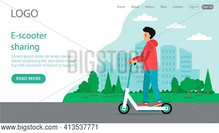Vector Illustration In Flat Cartoon Style. Landing Web Page Layout Composition With Writings And Obj