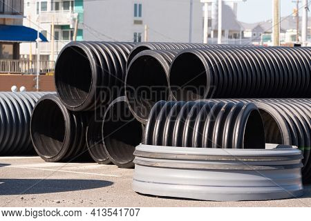 Large Sewer Pipes Plastic Tubestreet System Canalization