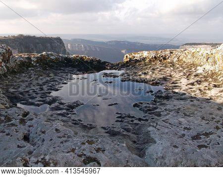 Mangup-kale Cave City In The Republic Of Crimea, Russia