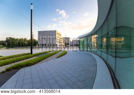 Wetzlar; Germany 2020_06_22: Leitz-park. Industrial Part Of Wetzlar, Headquarter From  Leica Factory