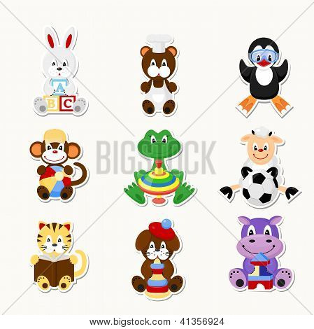 Cute Animals  With Toys