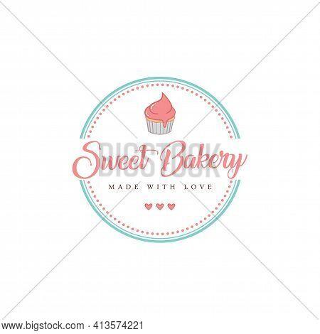 Bakery And Dessert Logo, Sweet Bakery Logo, Sign, Template, Flat Design Vector