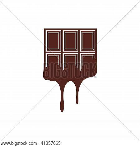 Chocolate Logo Design Vector Illustration, Creative Chocolate Logo Design Concept Template, Symbols