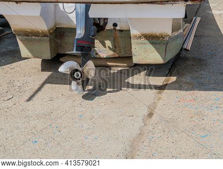 Propeller And Rudder Shaft Of Outboard Engine