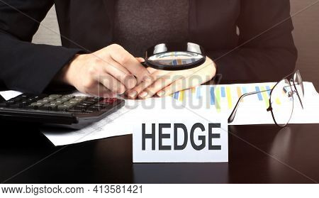 Close Up Business Woman Using Calculator And Charts Do Math Finance On The Wooden Desk In Office And