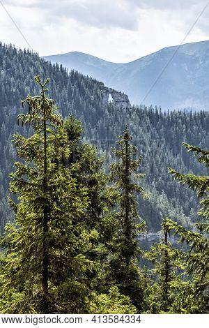 Biggest Rocky Window, Low Tatras Mountains, Slovak Republic. Hiking Theme. Seasonal Natural Scene.
