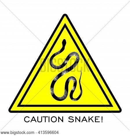 Snake Warning Sign. Danger. Poisonous Snakes Vector Illustration