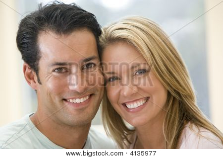 Couples Indoors Smiling