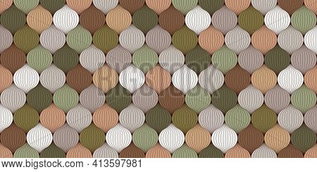 Abstract Seamless Pattern. Multicolored Interwoven Fibers, Yarn, Thread. Trendy Colors For Interior
