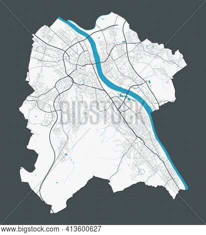Bonn Map. Detailed Map Of Bonn City Administrative Area. Cityscape Panorama. Royalty Free Vector Ill
