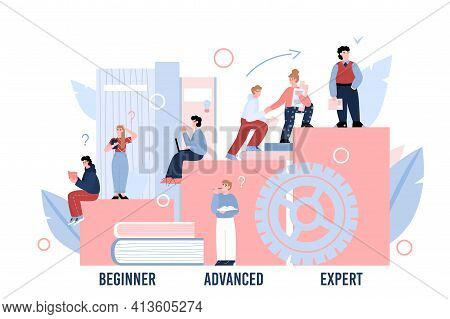 Concept Of Professional Skill Level, Education, Knowledge For Career Development