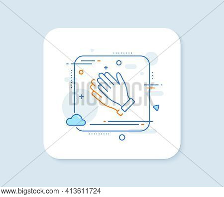 Clapping Hands Line Icon. Clap Sign. Vector