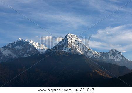 Schöne Aussicht Berge Himalaya, Nepal Annapurna Range