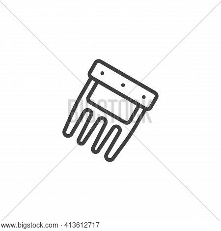 Bbq Meat Claws Line Icon. Linear Style Sign For Mobile Concept And Web Design. Shredder Claw Outline