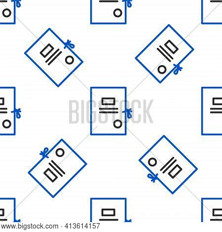 Line Lawsuit Paper Icon Isolated Seamless Pattern On White Background. Colorful Outline Concept. Vec