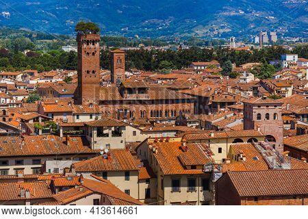 Panorama of Lucca Italia - architecture background