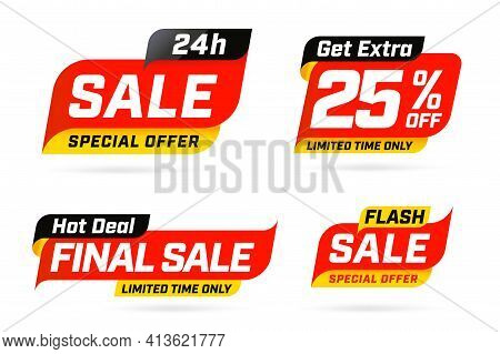 Special Limited Time Get Extra Sale Offer Hot Deal Template. Price Reduction Up To 25 Percent Off, F