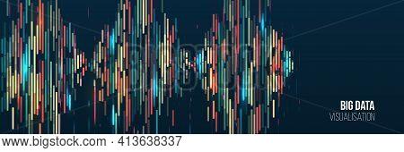 Big Data Visualization Algorithms. Computer Technology Sorting Data Concept. Machine Learning Algori