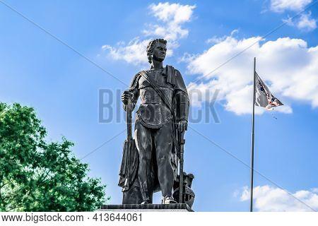 Kherson, Ukraine - July 22, 2020: Kherson Monument To Prince Grigory Potemkin-tauricheski, Isolated