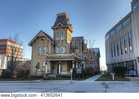 Kitchener, Ontario, Canada - November 6: Waterloo County Gaol, Located On [november 6, 2020] In [kit