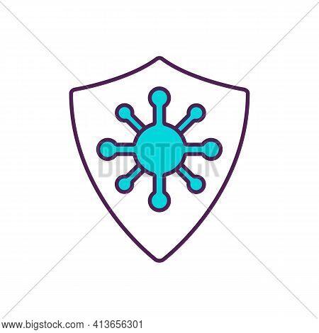 Disease Prevention Rgb Color Icon. Preventive Measures. Treatment And Rehabilitation Improvement. Re