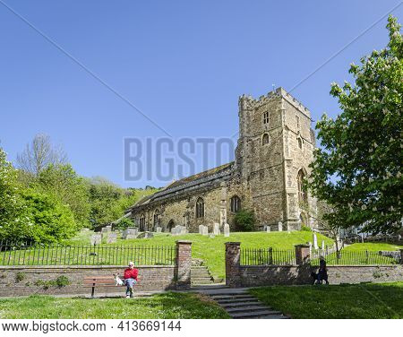 May 2015, Hastings, East Sussex, Uk -  All Saints Church In The Old Town Of Hastings, East Sussex, U
