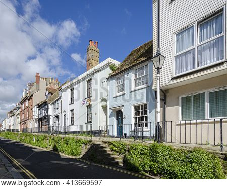 May 2015, Hastings, East Sussex, Uk -  Street View Of The Old Town, Hastings, East Sussex, Uk