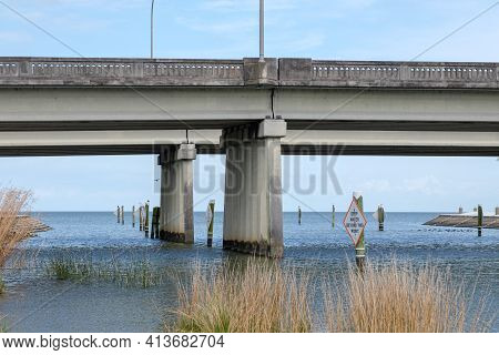 Bridge Over Confluence Of Lake Pontchartrain And Bayou St. John In New Orleans