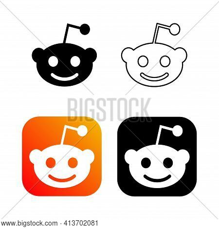 Humpolec, Czech Republic - November 08, 2020: Reddit - Button For Social Media, Phone Icon Symbol Lo