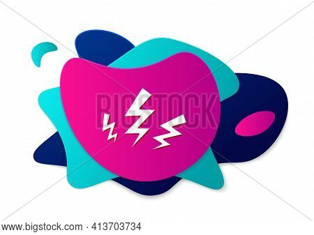 Color Zeus Icon Isolated On White Background. Greek God. God Of Lightning. Abstract Banner With Liqu