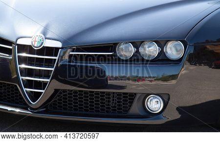Belgorod , Russia - JUN, 18, 2018: Alfa Romeo 159 - Luxury Sport Sedan