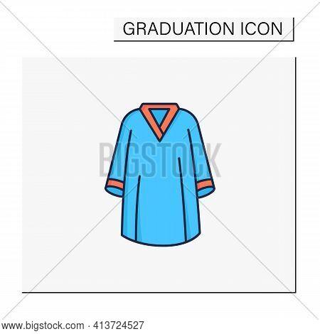 Graduation Dress Color Icon. Special Graduate Mantle. Holiday Costume. Graduate Uniform.graduation C