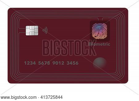 Here is a smart credit card with chip processor, rows of antenna circuits around the edges and a bio