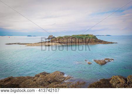 View Of Grand Bé Island Near The Coast Of Saint-malo
