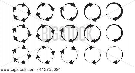 Circles Arrows, Great Design For Any Purposes. Symbol, Logo Illustration. Vector Pattern. Stock Imag