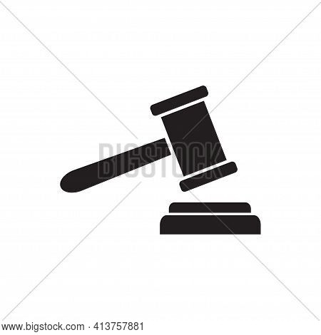 Security, Auction Icon Vector Hammer Court, Judge Gavel Icon For Graphic Design, Logo, Web Site, Soc