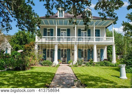 New Orleans, La - September 27: Historic Old Spanish Custom House Facing Bayou St. John On September