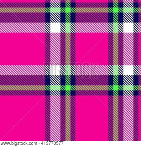 Purple Ombre Plaid Textured Seamless Pattern
