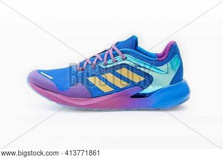 Roi Et, Thailand - March 15, 2021: The Adidas Alphatorsion Men's Running Shoes Are Running Shoes Tha
