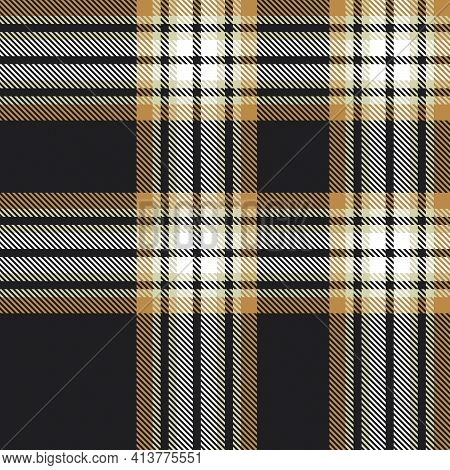 Brown Ombre Plaid Textured Seamless Pattern