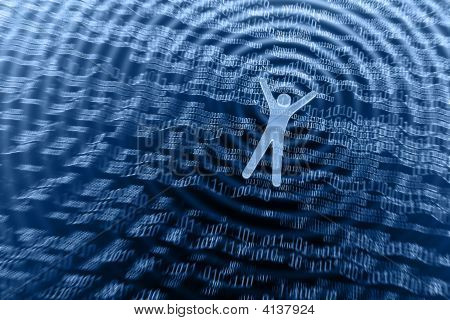 Floating In Information. Web Surfing Concept.
