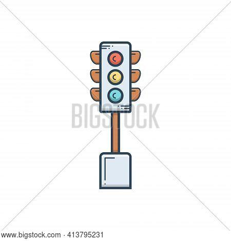 Color Illustration Icon For Traffic Signals Traffic-sign  Traffic-light